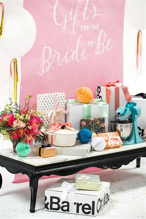 bridal shower table decorations bridal shower gift table ideas from 100 layer cake crate
