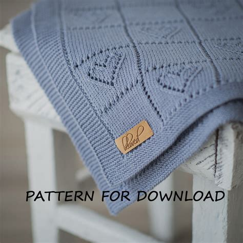 knitted baby comforter knit baby blanket pattern in knitting pattern for