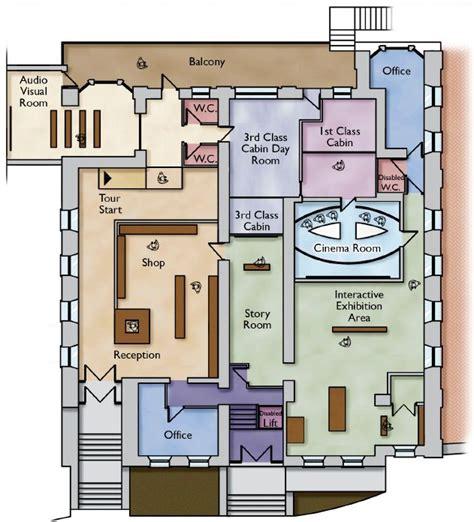 titanic floor plan exhibit floorplan titanic experience cobh queenstown