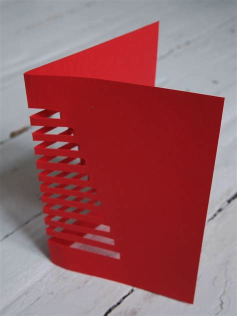 how to make a card out of paper diy cut out cristmas card design and paper