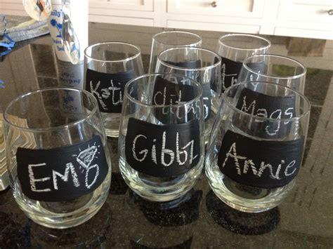 diy chalkboard label wine glasses crisp diy chalkboard wine glasses