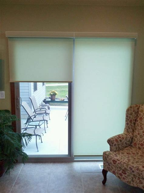 shades for sliding patio doors roller shades for sliding patio doors window treatments