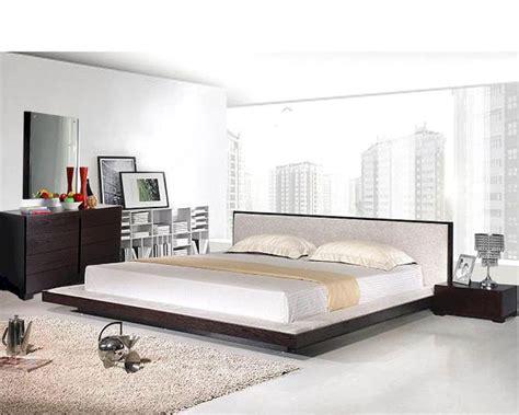 modern platform bedroom sets modern platform bedroom set in wenge finish made in italy