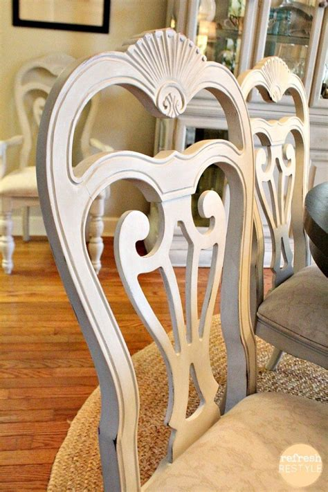 spray painting dining room chairs how to spray paint dining chairs refresh restyle