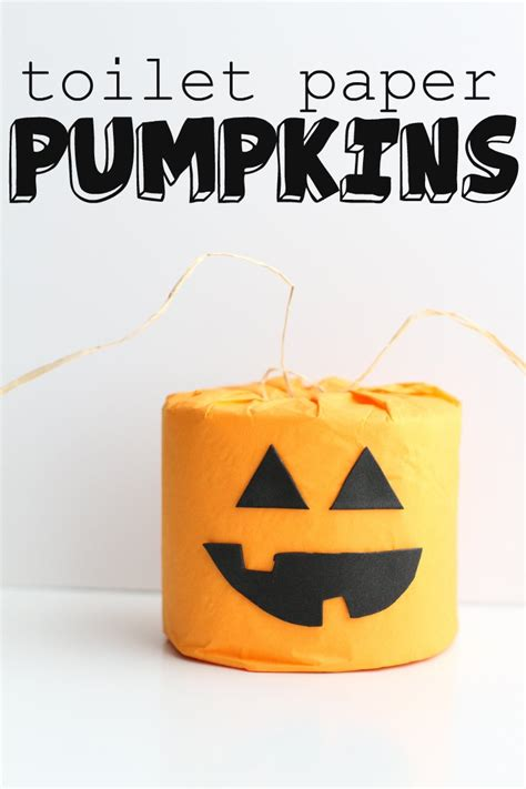 toilet paper pumpkins craft toilet paper pumpkins i can teach my child
