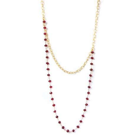 ruby gold necklace gold ruby necklace jodi henry jewelry