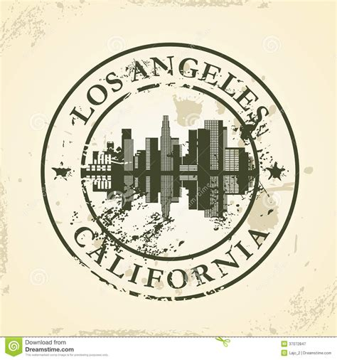 los angeles rubber st company grunge rubber st with los angeles california royalty