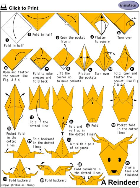 how to make an origami deer origami 5to y 6to grado