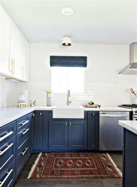 blue color kitchen cabinets stylish two tone kitchen cabinets for your inspiration
