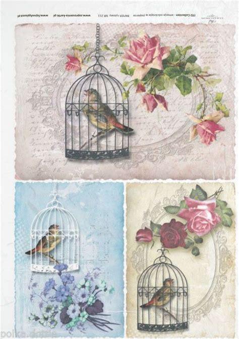 bird decoupage paper rice paper decoupage decopatch sheet vintage bird cages