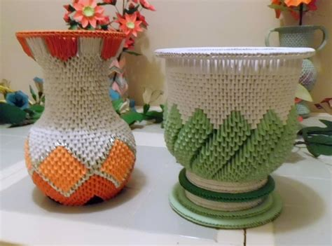 3d origami vase 3d origami vase and urn by dfoosdc on deviantart