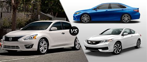 Nissan Accord by 2016 Nissan Altima Vs 2016 Toyota Camry Vs 2016 Honda Accord