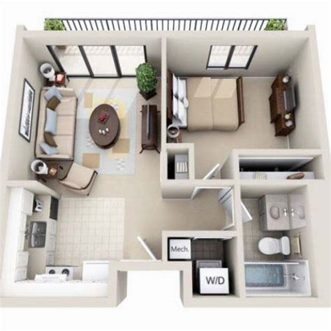 small house layout beautiful 3d small house floor plans one bedroom on budget
