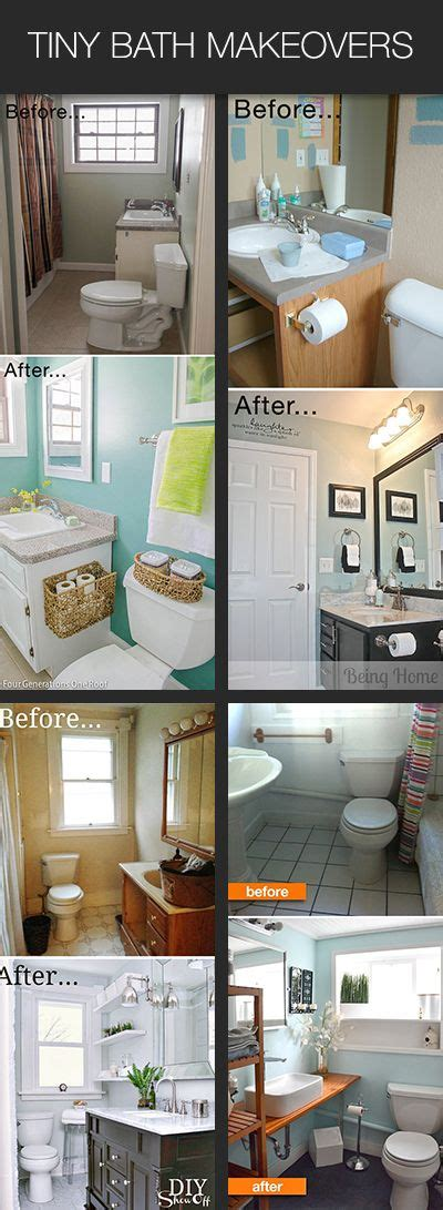 Diy Bathroom Makeover Ideas by 25 Best Ideas About Small Bathroom Makeovers On
