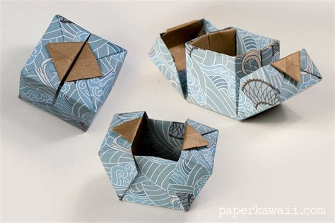 origami packaging origami hinged box videotutorial learn how to make a