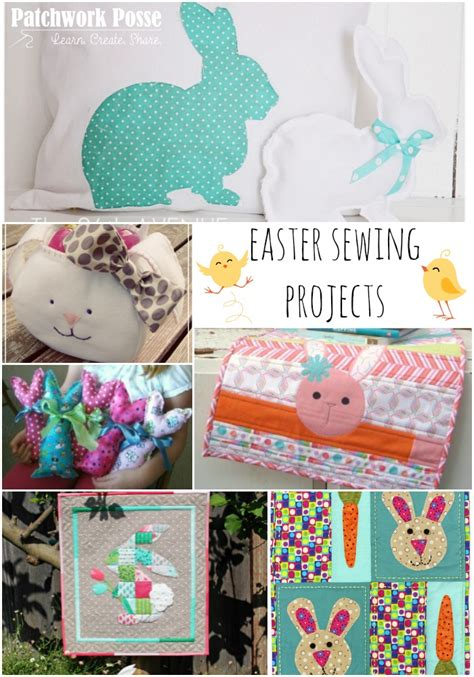 sewing crafts for 24 easter sewing projects