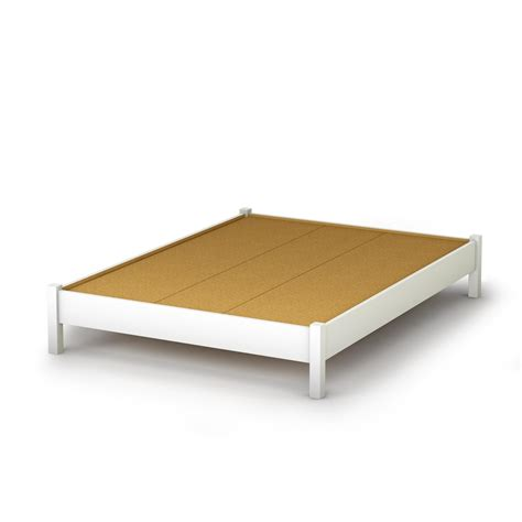 white platform bed south shore step one platform bed 54 quot in white