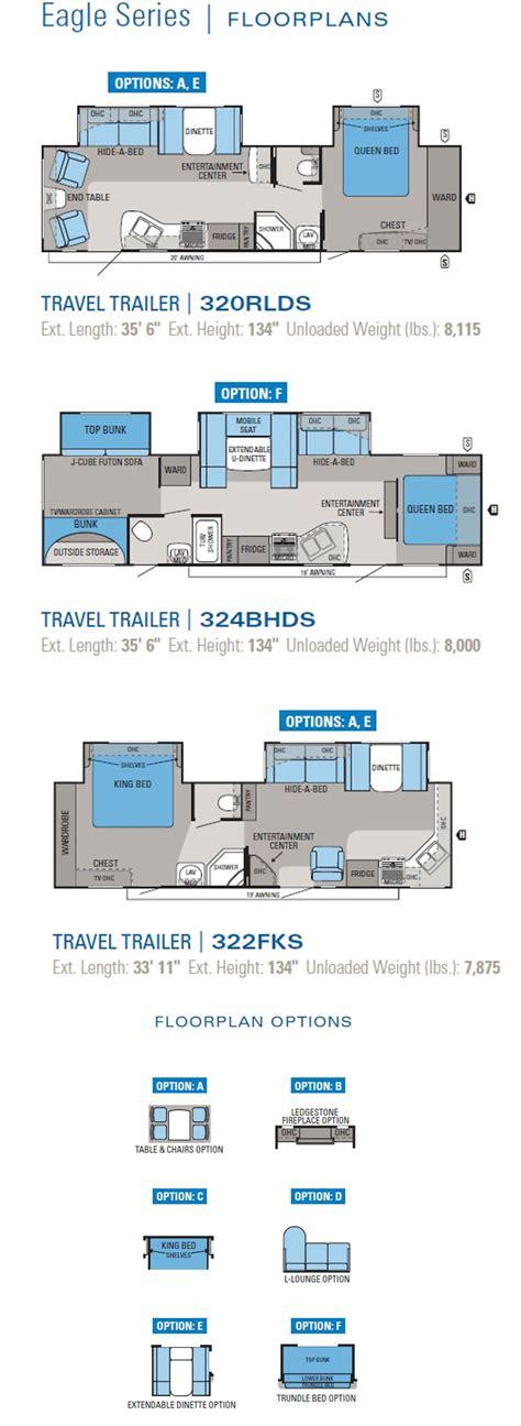 jayco travel trailer floor plans jayco eagle travel trailer floorplans 2011 large picture