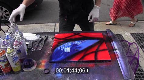 spray paint times square amazing performer spray paint doovi