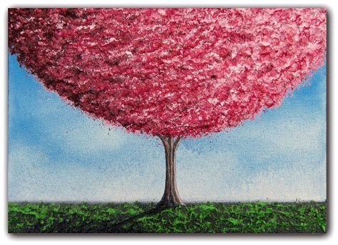 cherry blossoms tree painting paintings of trees wall