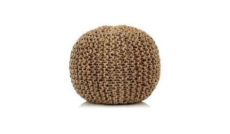asda knitted pouffe knitted pouffe jute home garden george at asda