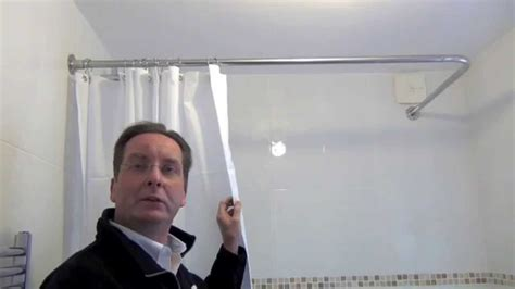 Shower Curtain For Corner Bath how to install a shower curtain rail by byretech youtube