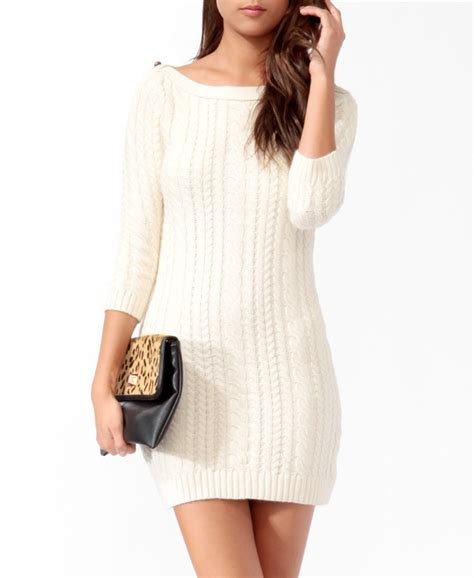 knitted sweater dress essential cable knit sweater dress from forever 21