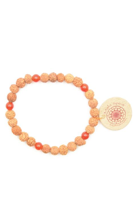 how many in a mala necklace courage mala bracelet of rudraksha mala and carnelian
