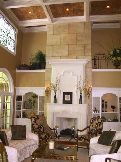 two story fireplace