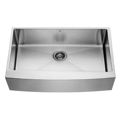 homedepot kitchen sinks vigo stainless steel farmhouse single bowl kitchen sink 36