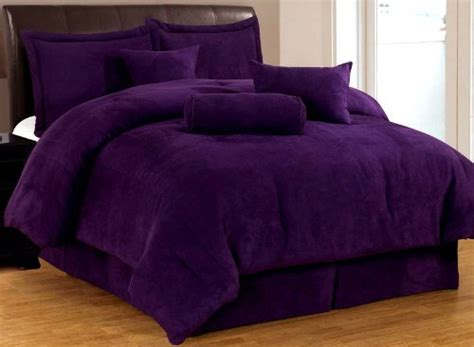 total fab solid purple bedding sets