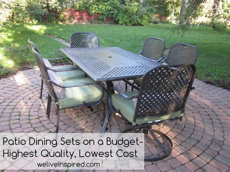 high patio dining set where to buy low cost quality patio furniture and dining