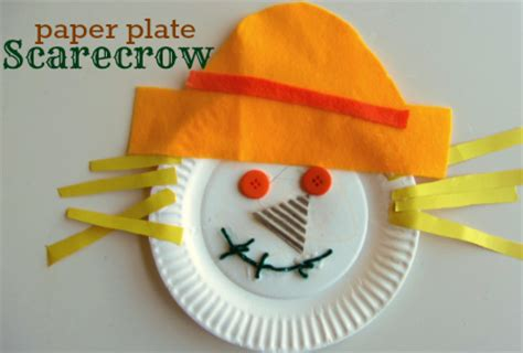 paper plate scarecrow craft harvest crafts activities no time for flash cards
