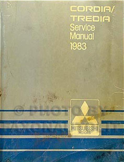 service manual automotive repair manual 1988 mitsubishi cordia instrument cluster service 1983 mitsubishi cordia tredia repair shop manual original