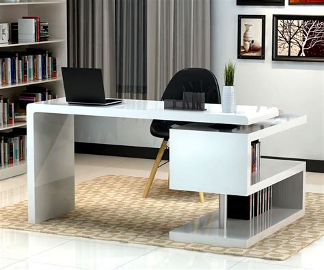 modern home desk stunning modern home office desks with unique white glossy