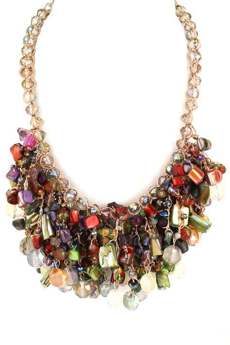 bead cluster necklace semi precious bead cluster necklace necklaces