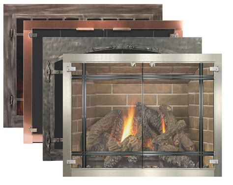 fireplace screen with glass doors glass fireplace doors by stoll fireplace inc