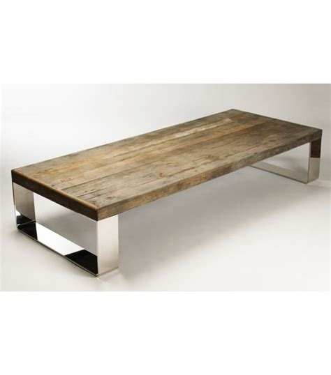 wood coffee tables reclaimed wood coffee table stainless steel legs