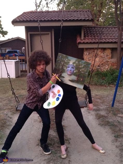 bob ross paintings costume bob ross and his painting costume photo 3 3