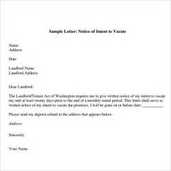 notice to vacate letters 8 download free documents in