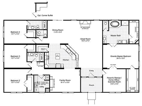 palm harbor mobile home floor plans view the hacienda iii floor plan for a 3012 sq ft palm