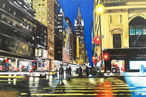 Chrysler Building New York City by Painting Of The Chrysler Building New York City Angela