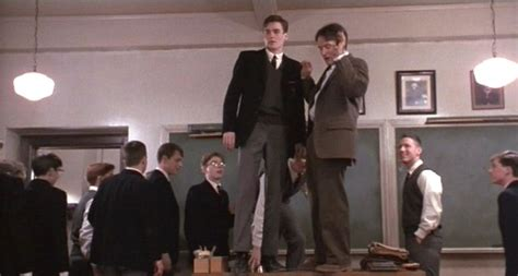 dead poets society standing on desks pictures from dead poets society