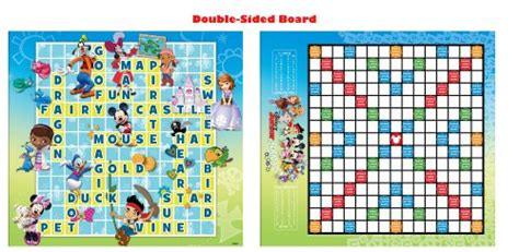 scrabble junior disney disney junior scrabble crossword board mickey mouse