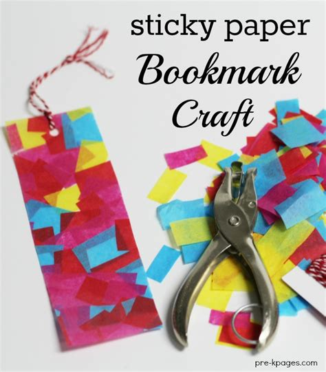 bookmark crafts for s day gifts with sticky paper