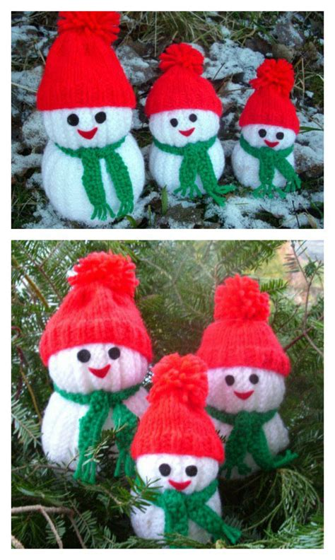 free knitting patterns snowman knitting snowman free pattern