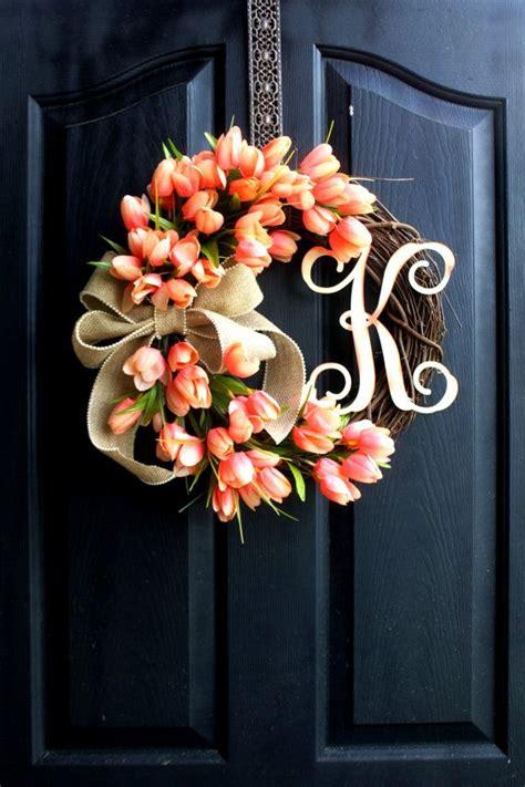 door wreaths best 25 letter door wreaths ideas on initial