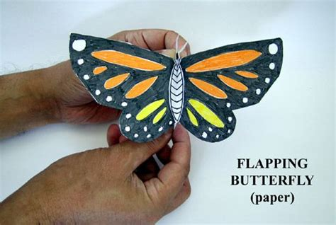 flapping butterfly origami flapping butterfly craft kid stuff crafts