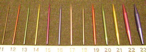 knitting needle sizes lareliw crafts beginner information needles
