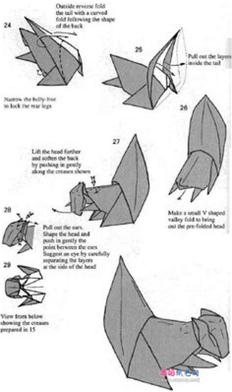 origami squirrel diagram how to make an origami monkey origami animal